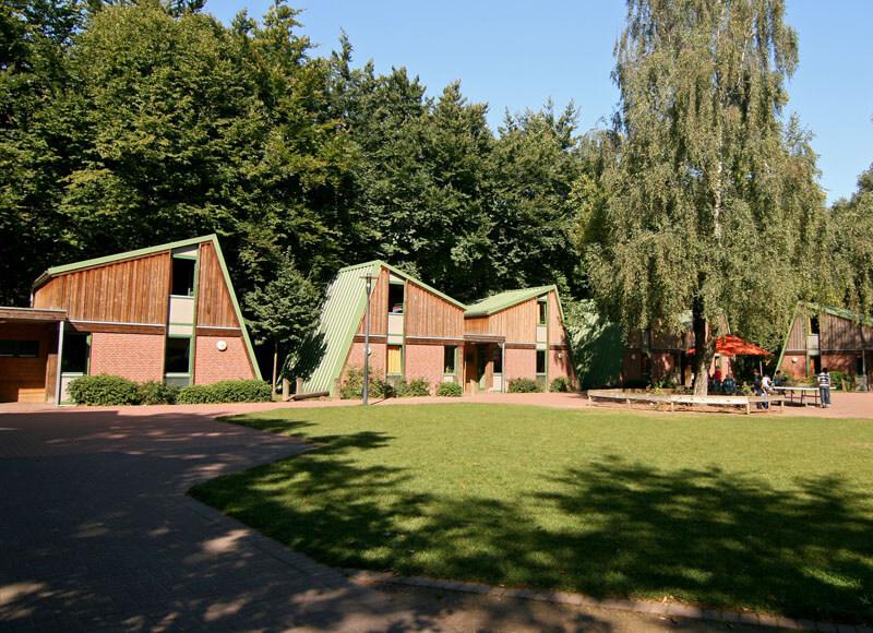 Die modernen Häuser im Sport- und Erlebnisdorf Hinsbeck