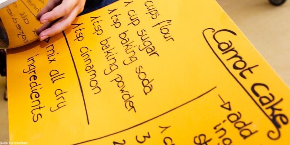Englischcamp: Kuchenrezept auf Englisch