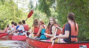Wassersport im Englischcamp in Deutschland